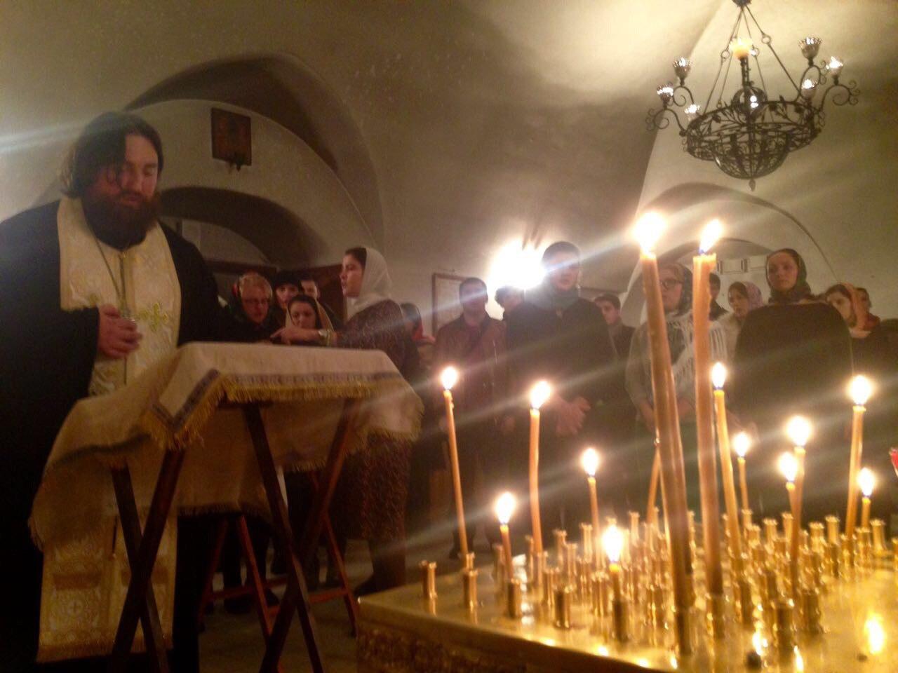 Панихида о упокоении Раисы Гундяевой в Даниловом монастыре