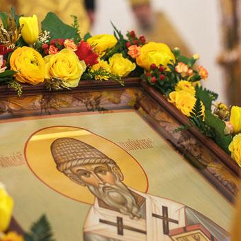 Патриаршее богослужение в день памяти святителя Спиридона, епископа Тримифунтского