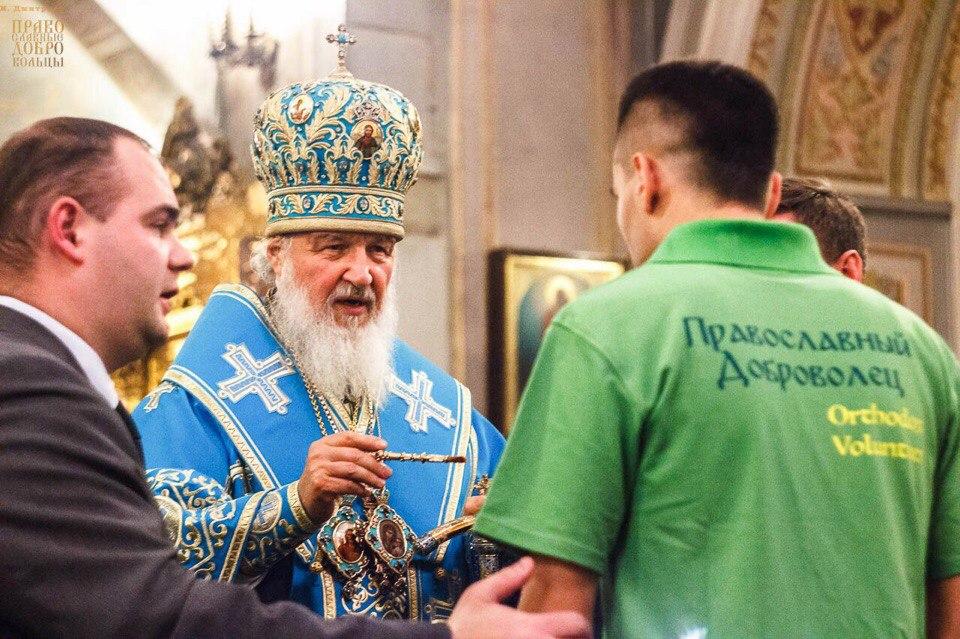 Помощь на патриаршей службе в Санкт-Петербургской епархии
