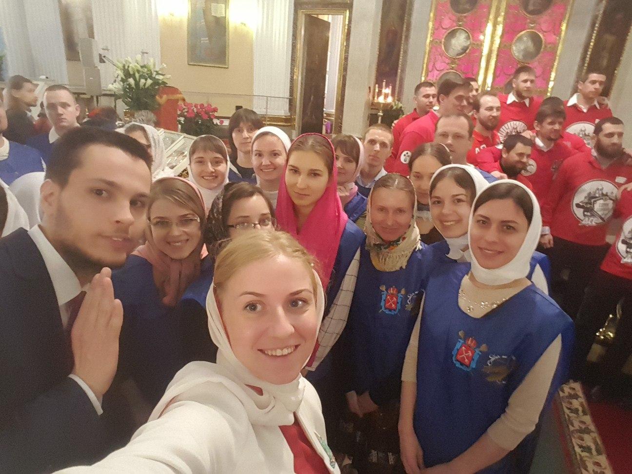 Фотоотчет: Православные добровольцы  в Санкт-Петербурге.