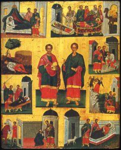 БратьяКосмаиДамиан,в Риме пострадавшие