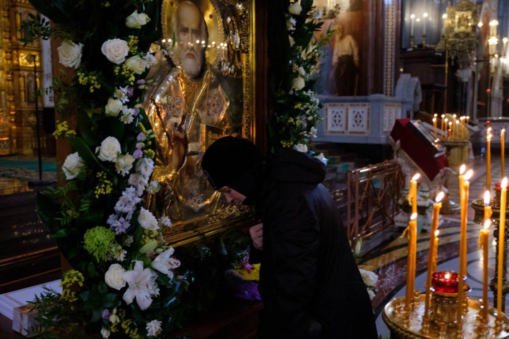 Икона Святителя Николая Чудотворца в Храме Христа Спасителя, г. Москва