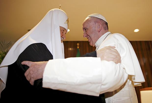 ВстречаПатриарха Московского и всея Руси Кириллас Папой Римским Франциском 12 февраля 2016 года