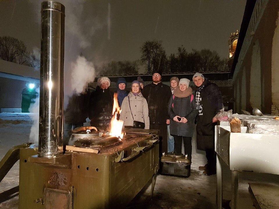 Полевая кухня в Донском монастыре