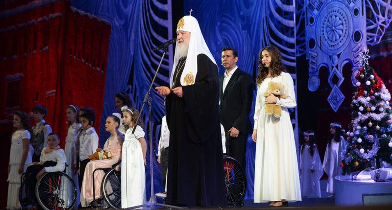 Музыкальный спектакль «Новогодняя звезда» на Патриаршей Ёлке в Кремле