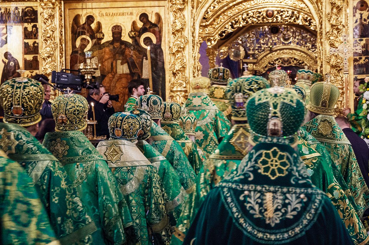 Патриаршее богослужение в Троице-Сергиевой лавре