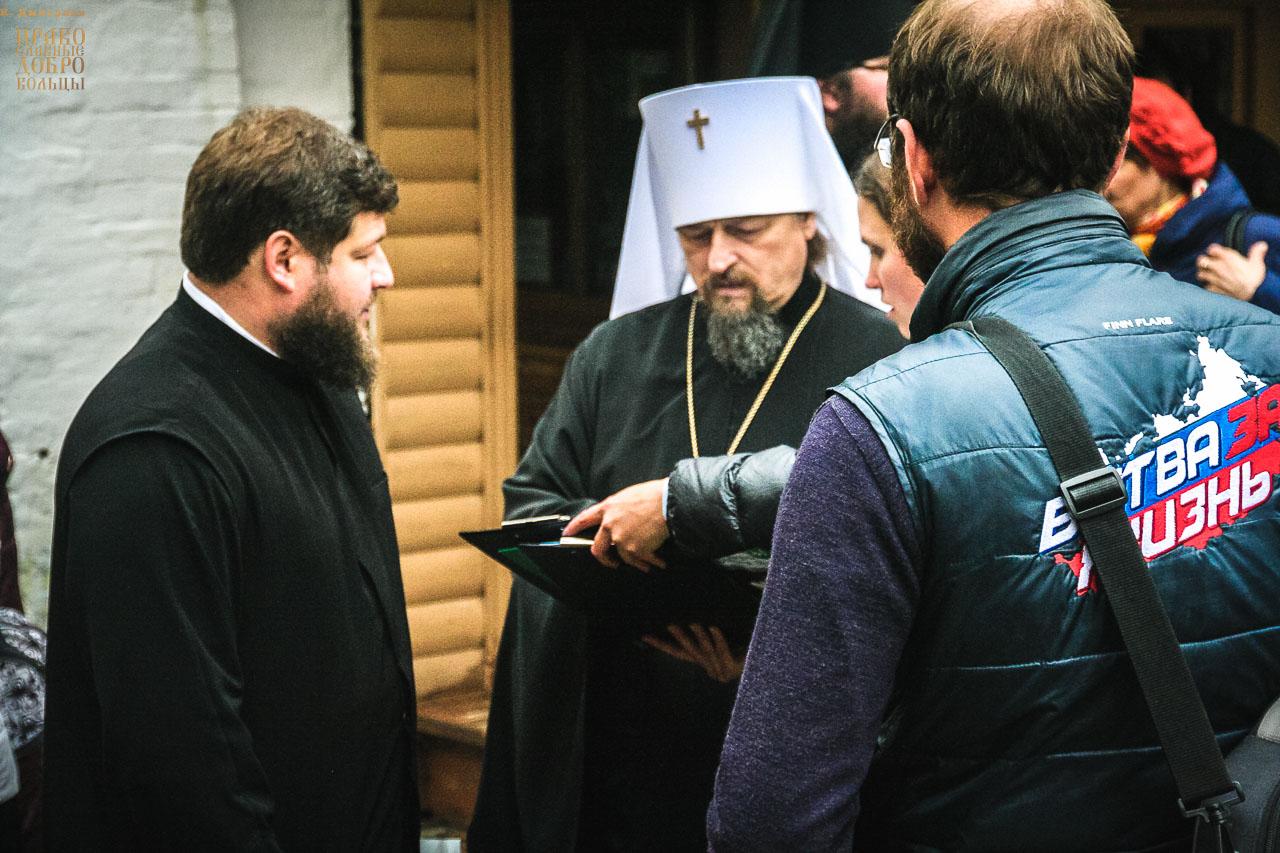 Сбор подписей против абортов в Троице-Сергиевой лавре