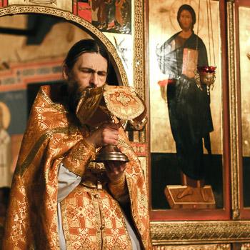 Литургия в Свято-Даниловом ставропигиальном мужском монастыре