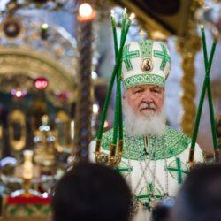 Патриаршее богослужение в день обретения честных мощей преподобного Сергия, игумена Радонежского в Троице-Сергиевой Лавре