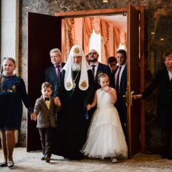 Святейший Патриарх Московский и всея Руси Кирилл посетил детскую Рождественскую елку в Государственном Кремлевском дворце